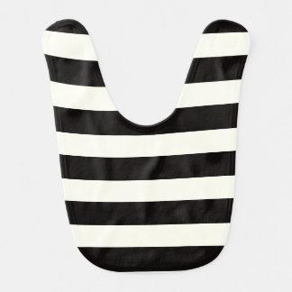 Black and White Stripe Baby Bibs