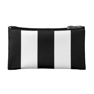 Black and White Stripe bag Cosmetic Bags