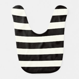 Black and White Stripe Bib