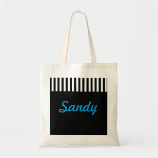 Black and White Stripe Budget Tote Bag