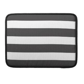 "Black and White Stripe Macbook Pro 13"" Sleeve"