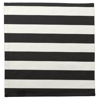 Black and White Stripe Napkin