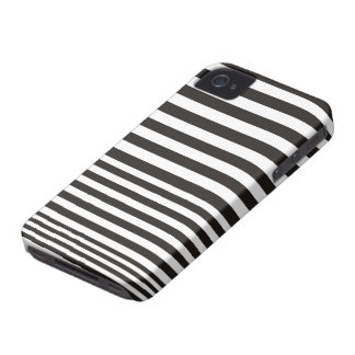 Black and white stripe pattern ID iPhone 4 4S case iPhone 4 Case-Mate Cases