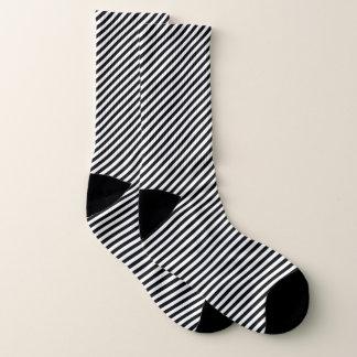 Black and white stripe pattern socks