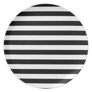 Black and White Stripe   Striped Design Plate