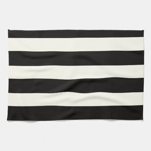 Black and White Stripe Kitchen Towel
