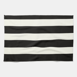 Black and White Stripe Towel