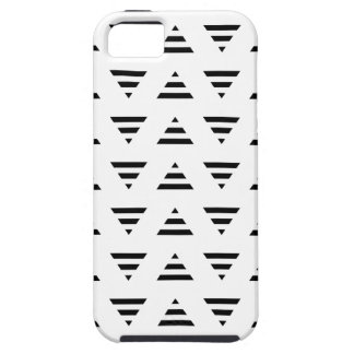 Black and White Stripe Triangles Pattern. iPhone 5 Cases