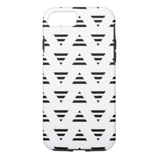 Black and White Stripe Triangles Pattern. iPhone 8/7 Case