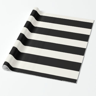 Black and White Stripe Wrapping Paper