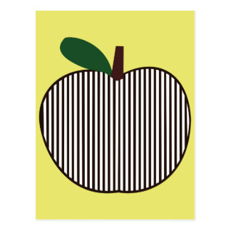 Black and White Striped Apple Postcard