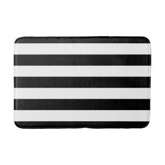 Black and White Striped Bath Mat Bath Mats