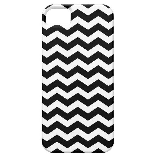 Black and White Striped Chevron Pattern iPhone 5