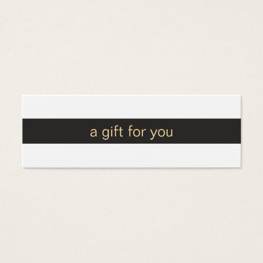 Black and White Striped Gift Card