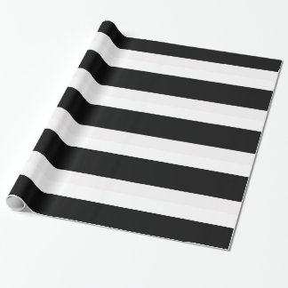 Black and White Striped Gift Wrapping Paper
