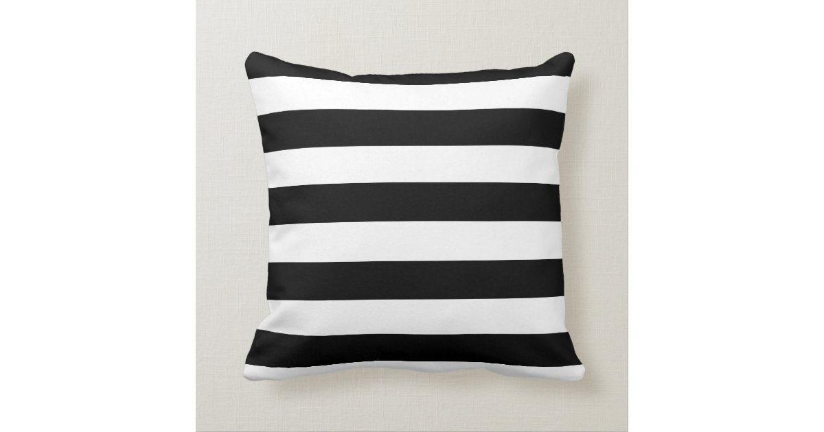 Black and White Striped Mint Heart Throw Pillow Cushion Zazzle