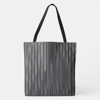 Black And White Striped Pattern Tote Bag