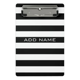 Black and White Striped Pattern with Name