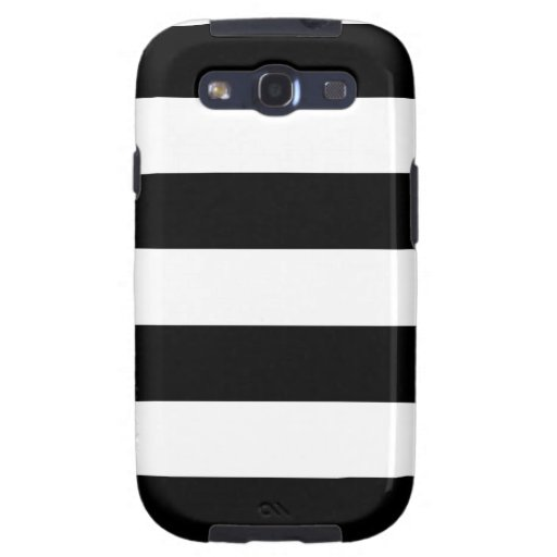 Black and White Striped - Samsung Galaxy S3 Case