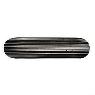 black and white striped skateboard