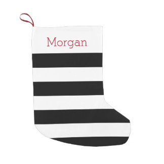 Black and White Striped Stocking