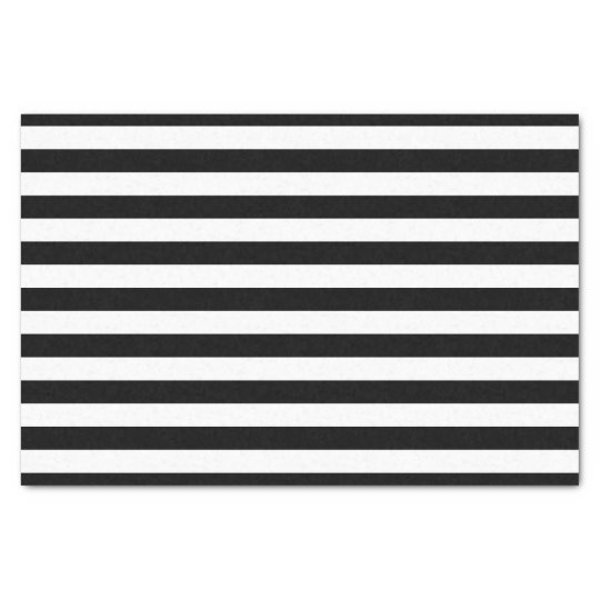 Black and White Striped Tissue Paper