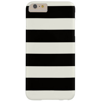 Black and white stripes barely there iPhone 6 plus case