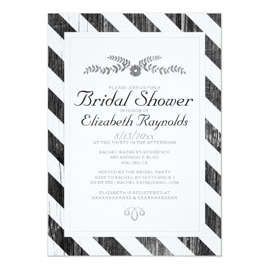 Bridal shower invitations announcements for Black and white bridal shower invitations