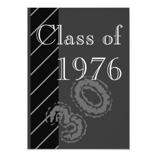 Black and white stripes Class reunion party Custom Announcements
