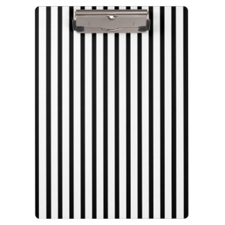 Black and White Stripes Clipboard