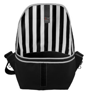 Black and White Stripes Commuter Bag