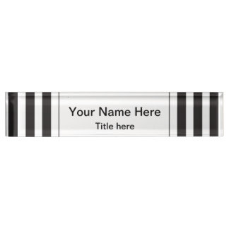 Black and White Stripes | DIY Name and Title Name Plates