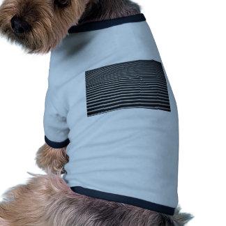 Black And White Stripes Dog Tshirt
