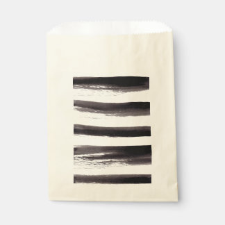 Black and White stripes Favour Bags