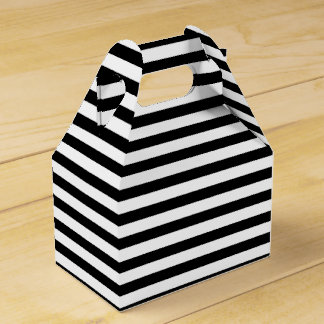 Black and White Stripes Favour Box