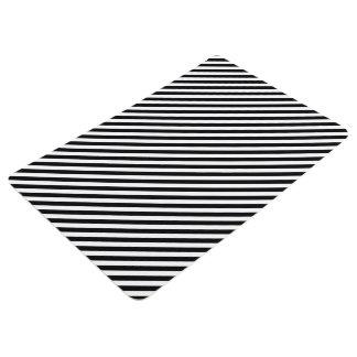 Black and White Stripes Floor Mat