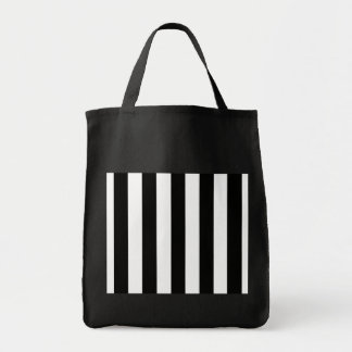 Black and White Stripes Grocery Tote Bag