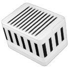 Black and White Stripes Igloo Cool Box