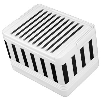 Black and White Stripes Igloo Cool Box