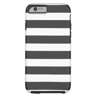 Black and White Stripes iPhone 6 Tough Tough iPhone 6 Case