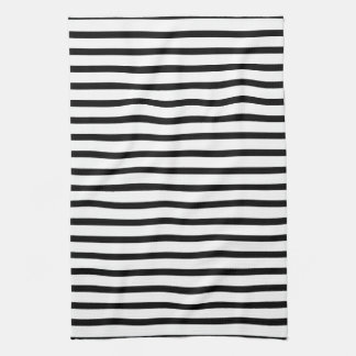 Black and White Stripes Kitchen Towel
