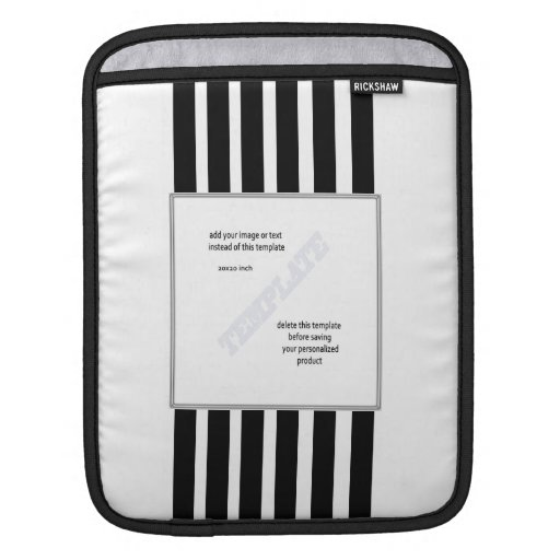 Black and white stripes logo ipad sleeves template