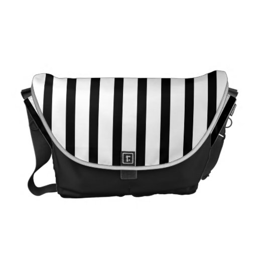 Black and White Stripes Commuter Bags