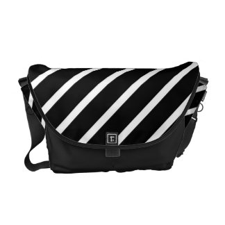 Black and White Stripes - Messenger Bag