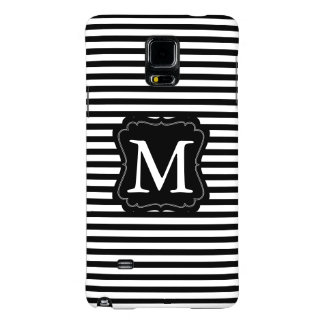 Black and White Stripes Monogram Galaxy Note 4 Case