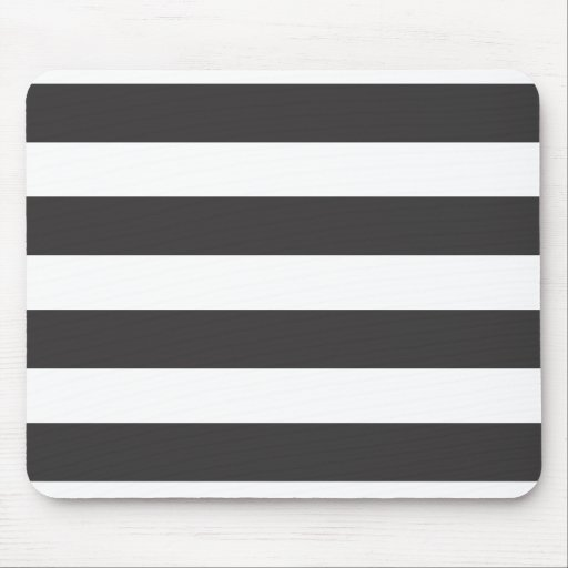 Black and White Stripes Mousepad