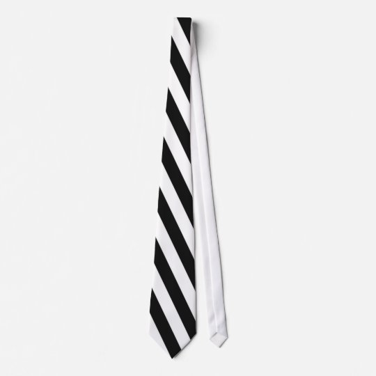 Black And White Stripes Necktie