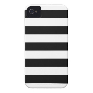 Black and White Stripes Pattern iPhone 4/4s Case