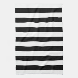 Black and White Stripes Pattern Kitchen Towels