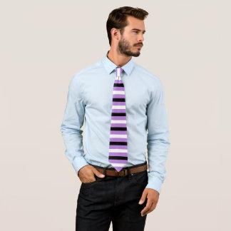 Black and White Stripes Pattern Modern Lavender Tie